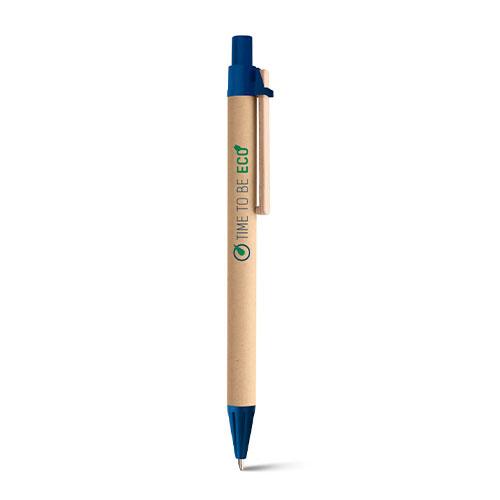 penna personalizzata eco blu con logo