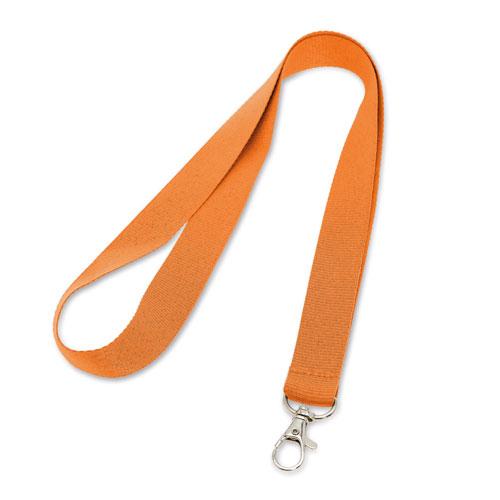 Porta badge neutro arancione, lanyard neutro arancione