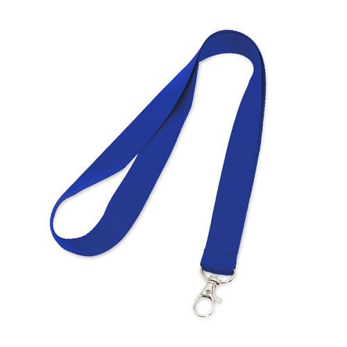 Porta badge neutro blu, lanyard neutro blu