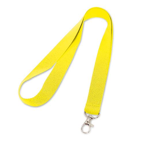 Porta badge neutro giallo, lanyard neutro giallo
