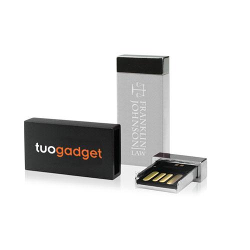 Chiavetta USB Aluminium, memoria USB in alluminio con chiusura magnetica, personalizzata con stampa quadricromia o laser. Memoria da 2 a 16 gb