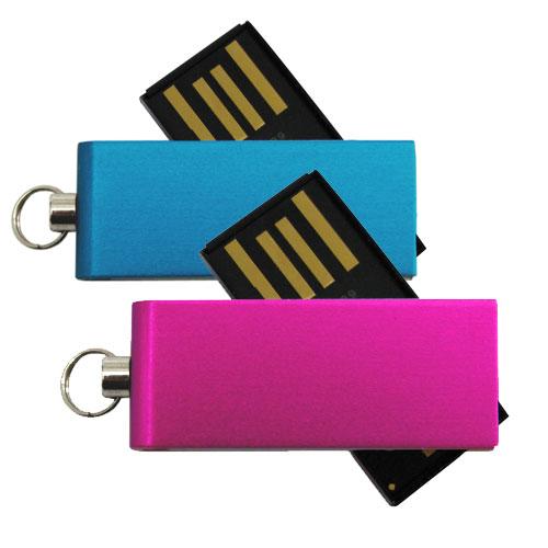 Chiavetta USB Micro in alluminio, blu e fucsia