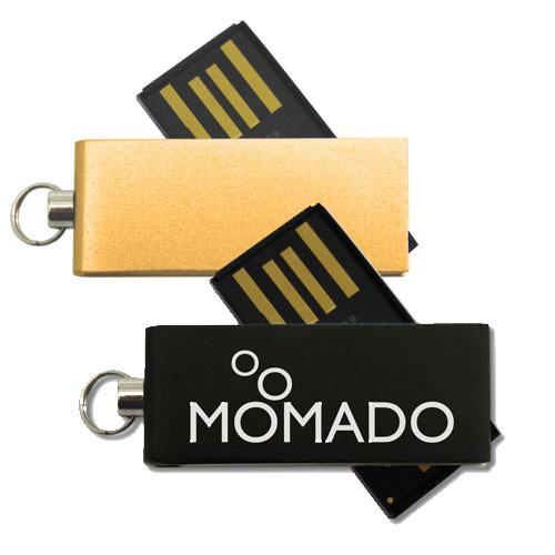 Chiavetta USB Micro in alluminio, nera e oro