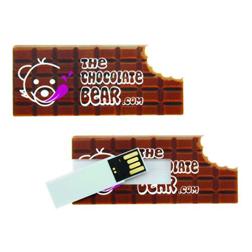 Chiavetta USB Figure, forma e stampa cioccolato