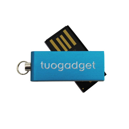 Chiavetta USB Micro, in alluminio anodizzato, ultra compatta. Personalizzata con incisione laser tuo gadget. Memoria da 2 a 16 gb