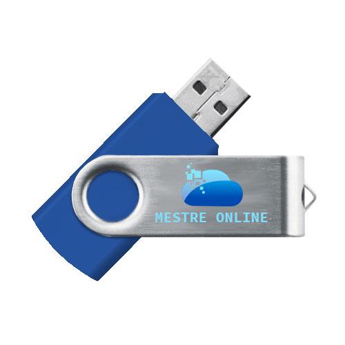 Chiavetta USB Standard, in plastica e metallo, personalizzata con stampa quadricromia. Memoria da 2 a 16 gb