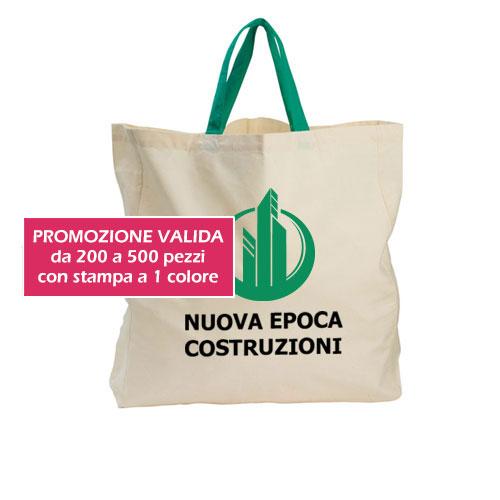Borsa shopper Cotton XXL personalizzata Nuova Epoca, promozione