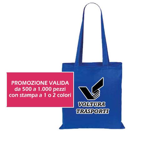 Borsa Cotton color con stampa personalizzata, in promozione
