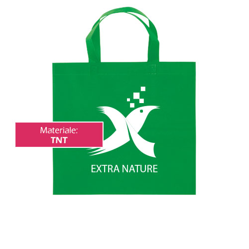 Borsa shopper Basic in TNT personalizzata con stampa logo Extranature