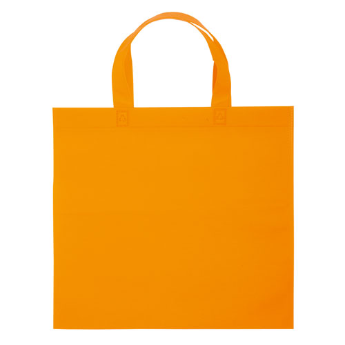 Borsa shopper Basic in TNT arancione