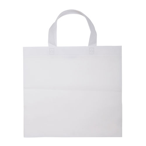 Borsa shopper Basic in TNT bianco
