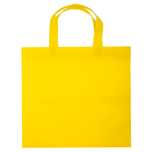 Borsa shopper Basic in TNT giallo