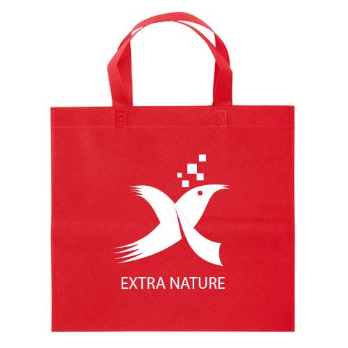 Borsa shopper Basic in TNT rosso personalizzata con logo
