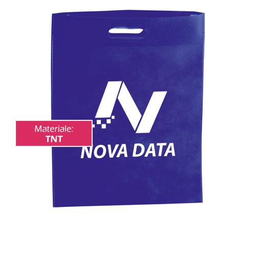 Borsa shopper Case blu con stampa logo novadata