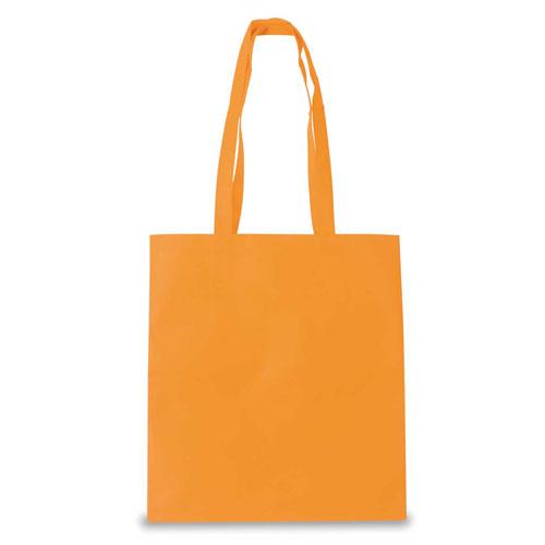 Borsa shopper in tnt color, colore arancio