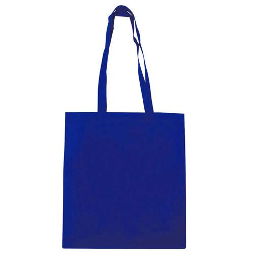 Borsa shopper in tnt color, colore blu