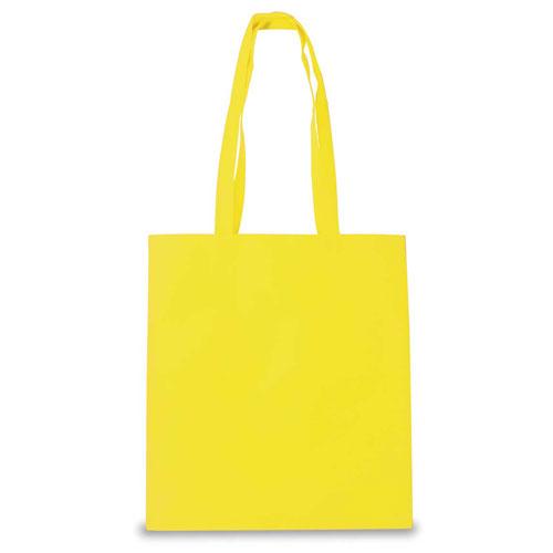 Borsa shopper in tnt color, colore giallo