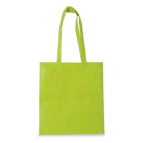 Borsa shopper in tnt color, colore verde chiaro