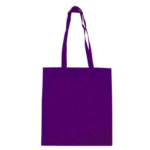 Borsa shopper in tnt color, colore viola