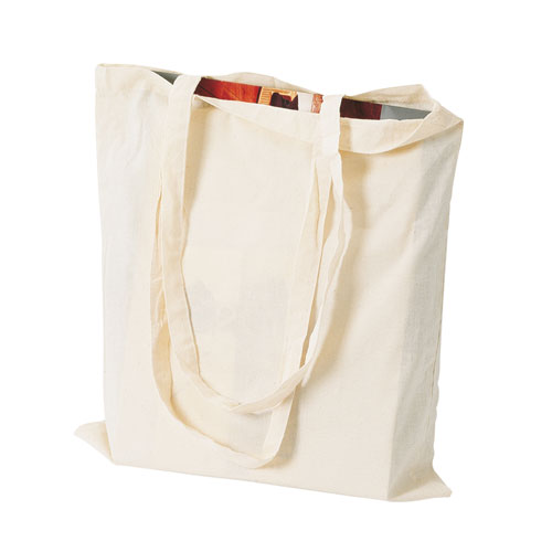 Borsa shopper Cotton, shopper in colore cotone naturale