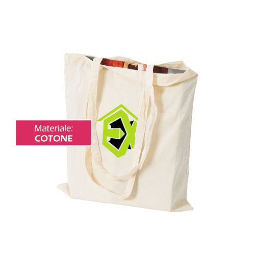 Borsa shopper Cotton, shopper in cotone personalizzata