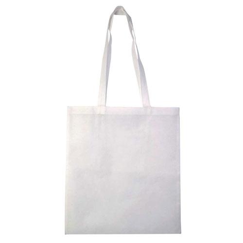 Borsa shopper in tnt color, colore bianco