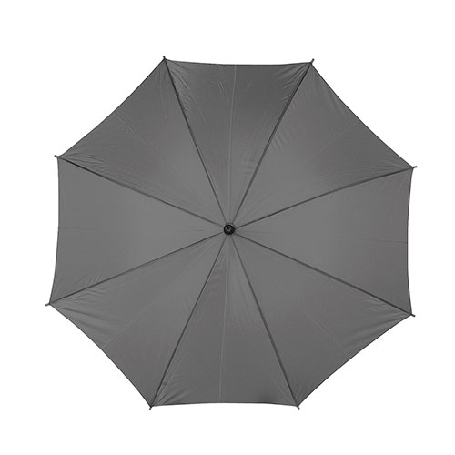 Ombrello automatico con manico in legno, grigio
