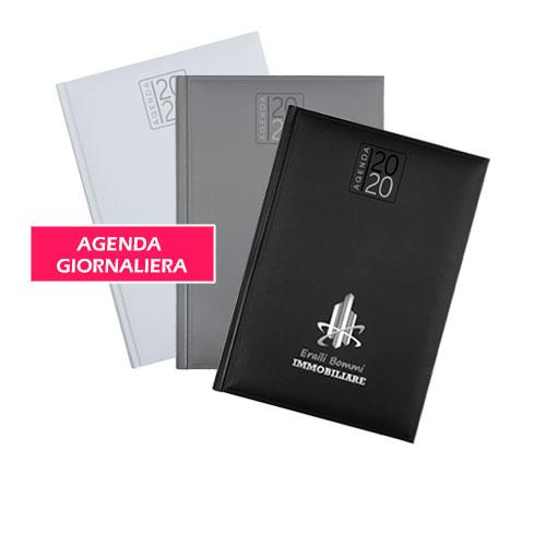 Agenda personalizzata giornaliera 2020, Agenda Classic con stampa logo, disponibile personalizzata o neutra