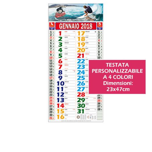 Calendario personalizzatbile color con testata a 4 colori