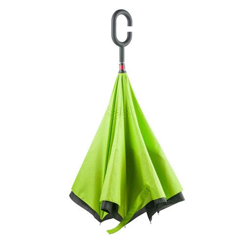 Ombrello Reverse, ombrello personalizzabile verde