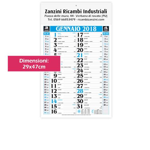 Calendario olandese personalizzato Classic blu