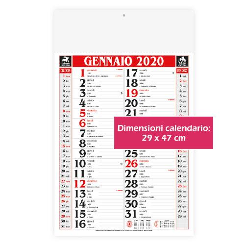 Calendario personalizzato o neutro classico, Calendario classic 2020, dimensioni