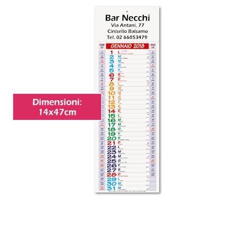Calendario silhouette personalizzato - Calendario Vertical Color