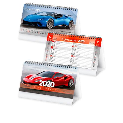 Calendario da tavolo con foto di auto sportive, Calendario Car 2020, disponibile personalizzato o neutro