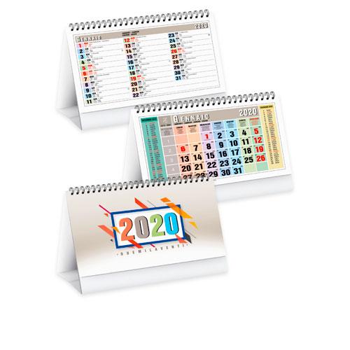 Calendario da tavolo personalizzato multicolor, calendario 2020 disponibile neutro o personalizzato