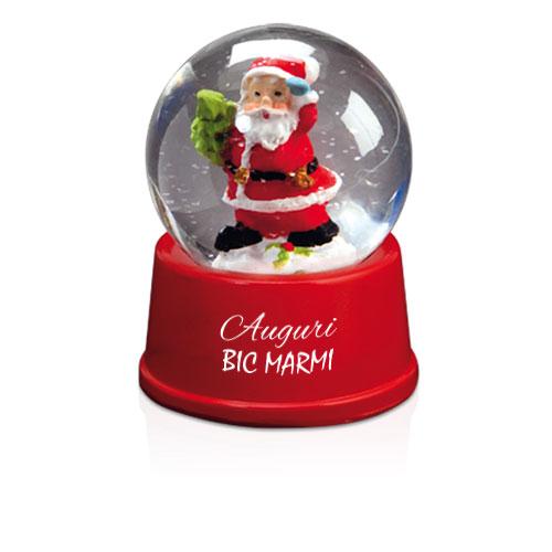 Palla di neve personalizzata con Babbo Natale