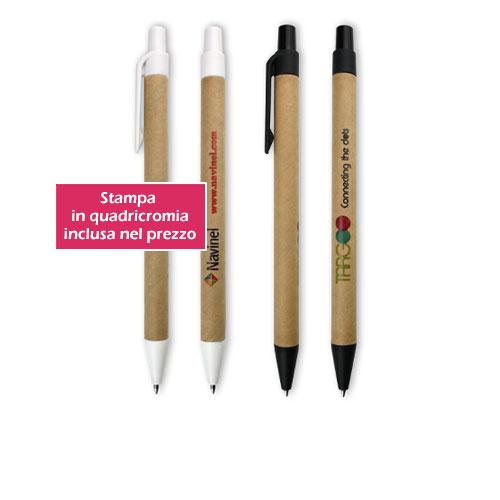Penna personalizzata ecologica Green, in cartone e plastica riciclata