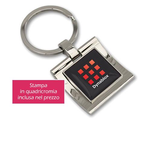 Portachiavi personalizzato in metallo Moon
