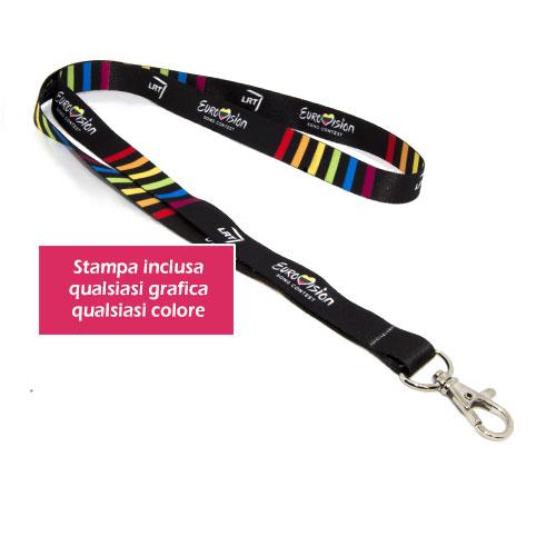 Porta badge personalizzato - lanyard Hook 15, personalizzato Eurovision
