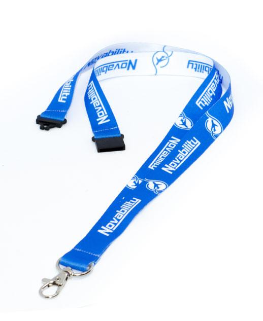 Porta badge safe, chiusura sicurezza antisoffocamento, fronte retro diversi, novability
