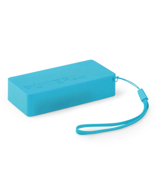 Power Bank 4000 mAh, Power Bank Strong, Caricatore smartphone colore azzurro