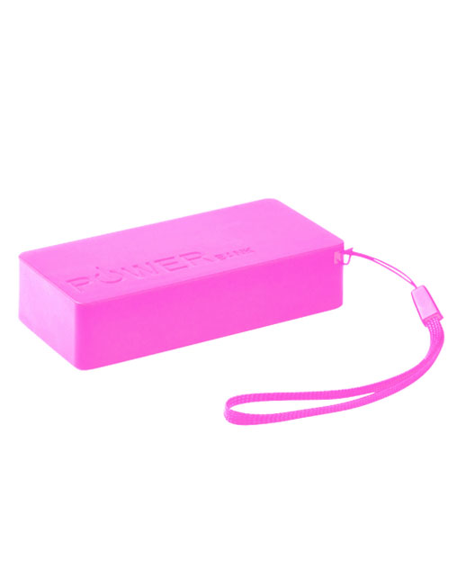 Power Bank 4000 mAh, Power Bank Strong, Caricatore smartphone colore fucsia