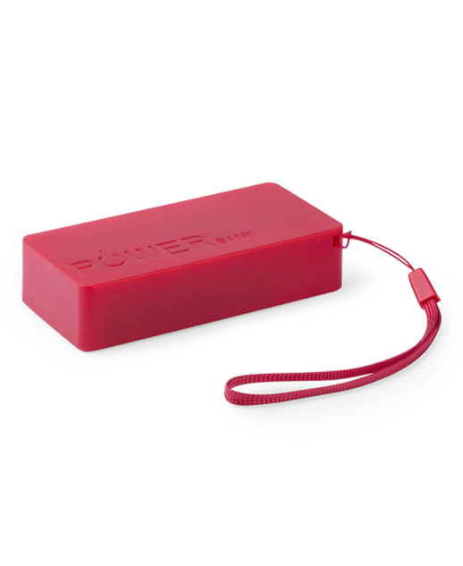 Power Bank 4000 mAh, Power Bank Strong, Caricatore smartphone colore rosso