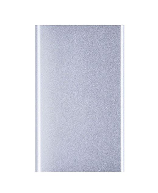 Power Bank Top, in alluminio, ultrapiatto, 4000 mAh, argento