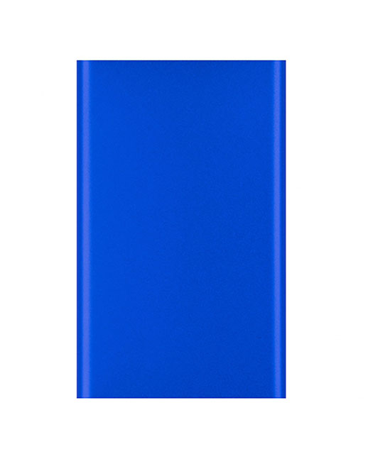 Power Bank Top, in alluminio, ultrapiatto, 4000 mAh, blu