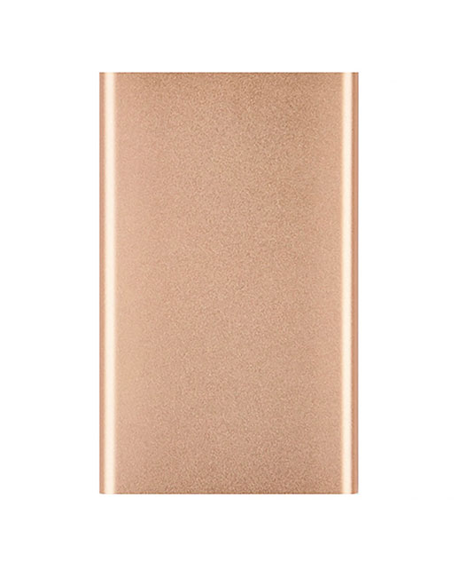 Power Bank Top, in alluminio, ultrapiatto, 4000 mAh, oro