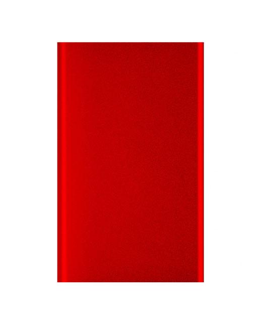Power Bank Top, in alluminio, ultrapiatto, 4000 mAh, rosso