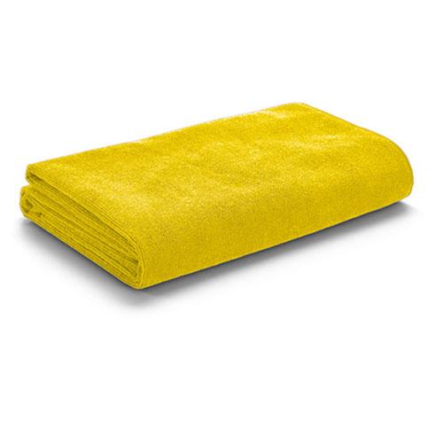 Asciugamani personalizzato Slim in microfibra, colore giallo