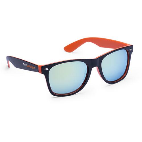 Occhiali da sole personalizzati bicolor, con stampa logo tuo gadget
