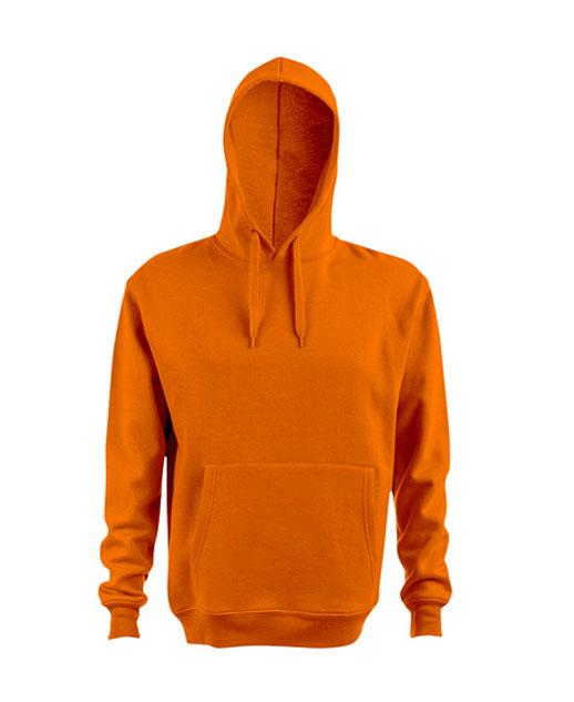 Felpa con cappuccio personalizzata, unisex, arancione